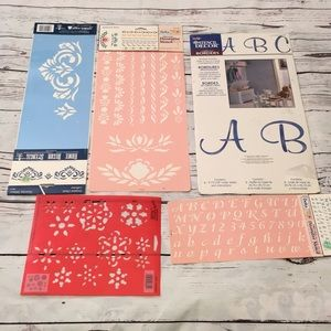Lettering and pattern paint stencils